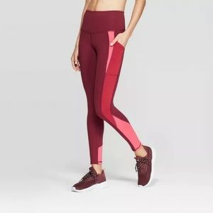 Champion leggings capri color block workout gym B2